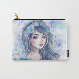 Girl with succulent headpiece Carry-All Pouch