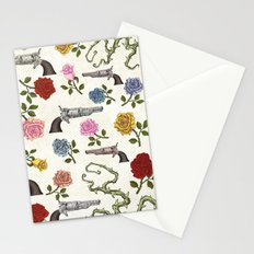 Sweet Guns and Roses Stationery Cards