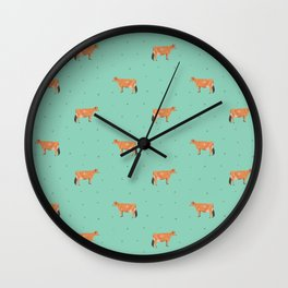 Jerseys // Green & Teal Wall Clock