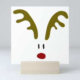 Christmas Red Nose Reindeer Mini Art Print