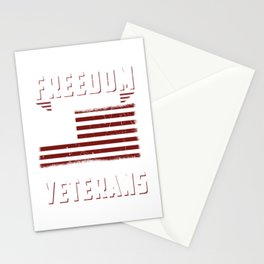 Freedom Isn't Free Thank You Veterans Patriotic Stationery Cards