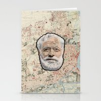 hemingway Stationery Cards featuring Ernest Hemingway by steam