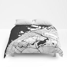 Dubai City Map Gray Comforters