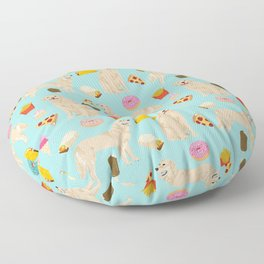 Golden Retriever donuts french fries ice cream pizzas funny dog gifts dog breeds Floor Pillow