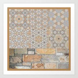 The Alamo Wall Collage 6396 Art Print
