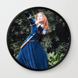 Brave Archer Girl by Lillee Jean Wall Clock
