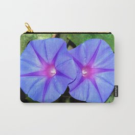 Vivid Blue, Purple and Pink Ipomoea Flowers Carry-All Pouch