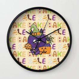 Little Batty Halloween Bake Sale Wall Clock