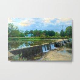 Wehr's Dam in October Metal Print