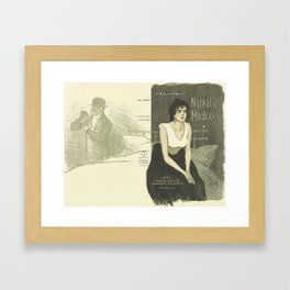 Cover for the book Nathalie Madore by Abel Hermant Theophile Alexandre Steinlen 1859 - 1923 Framed Art Print