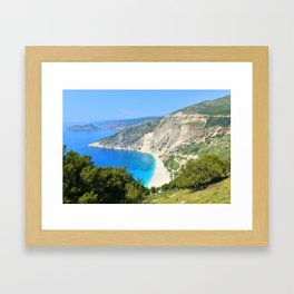 Kefalonia - Myrtos beach Framed Art Print