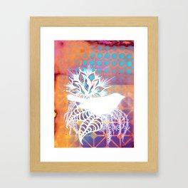 Little Orange Bird Framed Art Print