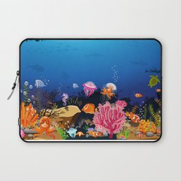 Beautiful Coral Reef Animals Laptop Sleeve