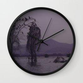 Lake Naivasha in Purple Wall Clock
