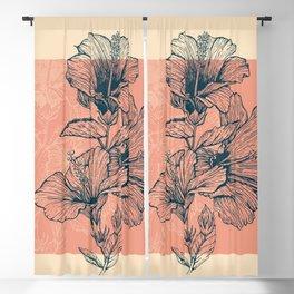 Hibiscus Colors Blackout Curtain