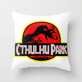 Cthulhu Park Throw Pillow