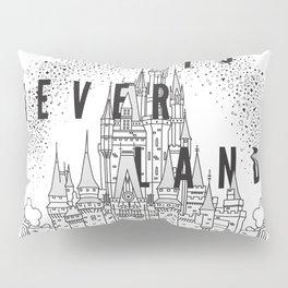 Off to Neverland: Black & White Pillow Sham
