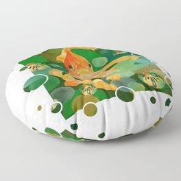 Happy Norooz Persian New Year Goldfish In Green Sea Floor Pillow