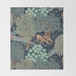 William Morris The Brook Throw Blanket