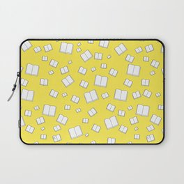 Sunny Yellow Flying Books Pattern Laptop Sleeve