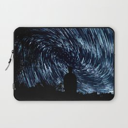 Meteor Shower Time Lapse - Abstract Graphic Design Laptop Sleeve
