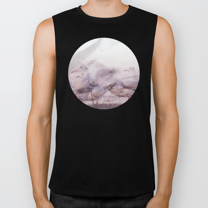 SONGS OF BIRDS | White Seagulls Biker Tank