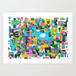 Neighbourhood 2 Art Print