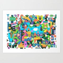Neighbourhood 2 Art Print