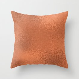 Simply Metallic in Deep Copper Throw Pillow
