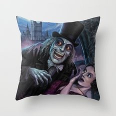 Vampire of London Throw Pillow