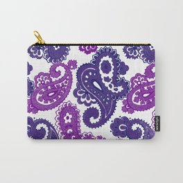 Fun Purple Paisley Carry-All Pouch