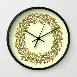 Leafy Letter O Wall Clock