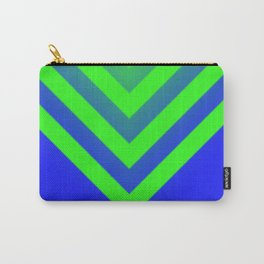 Blue & Green Chevron Carry-All Pouch