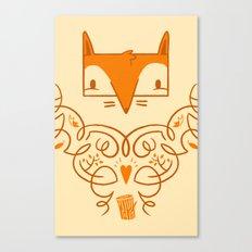 Ornate Fox Canvas Print