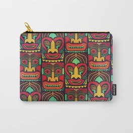 Tiki tribal mask pattern. Carry-All Pouch