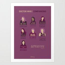 Doctor Who | Companions Art Print