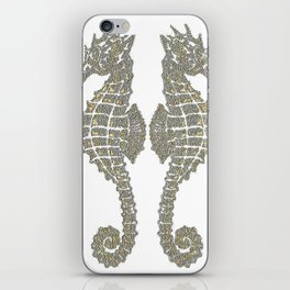 Vintage Tribal Sea Horses iPhone Skin