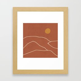 Minimal Abstract Art Landscape 2 Framed Art Print