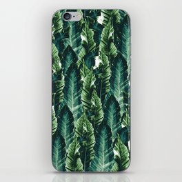 Green Vibes #1 #tropical #foliage #decor #art #society6 iPhone Skin