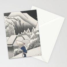 Kanbara Station - Vintage Japan Woodblock Stationery Cards