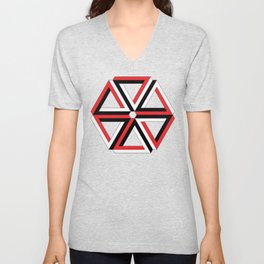 Penrose Triangles Unisex V-Neck
