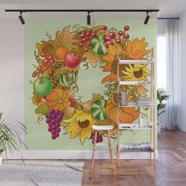 Fall Wreath Wall Mural