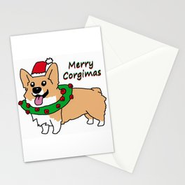 Merry Corgimas Stationery Cards