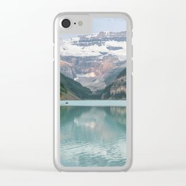 Lake Louise Canoes Clear iPhone Case