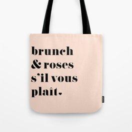 Brunch & Roses Tote Bag