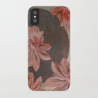 leah flores iPhone & iPod Cases featuring Flores by MACACOSS