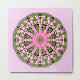 Bleeding heart, Floral mandala-style, Flower Mandala Metal Print