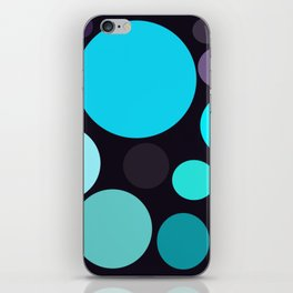 Blue and Purple Dots iPhone Skin