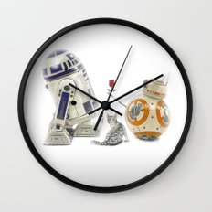 LOVE DROID & THE CAT Wall Clock