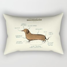 Anatomy of a Dachshund Rectangular Pillow